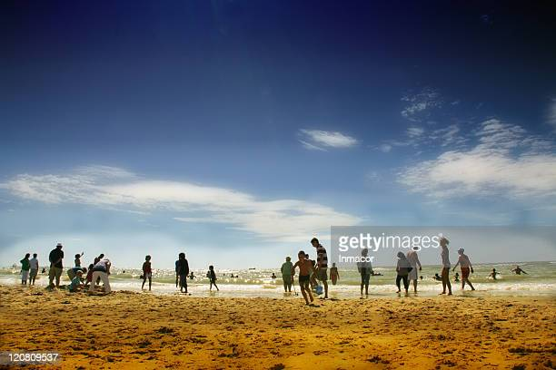 one summer day - le touquet paris plage stock pictures, royalty-free photos & images