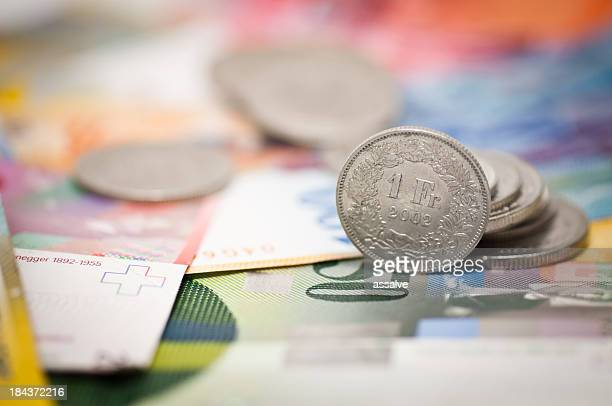 one swiss franc - swiss culture stock pictures, royalty-free photos & images