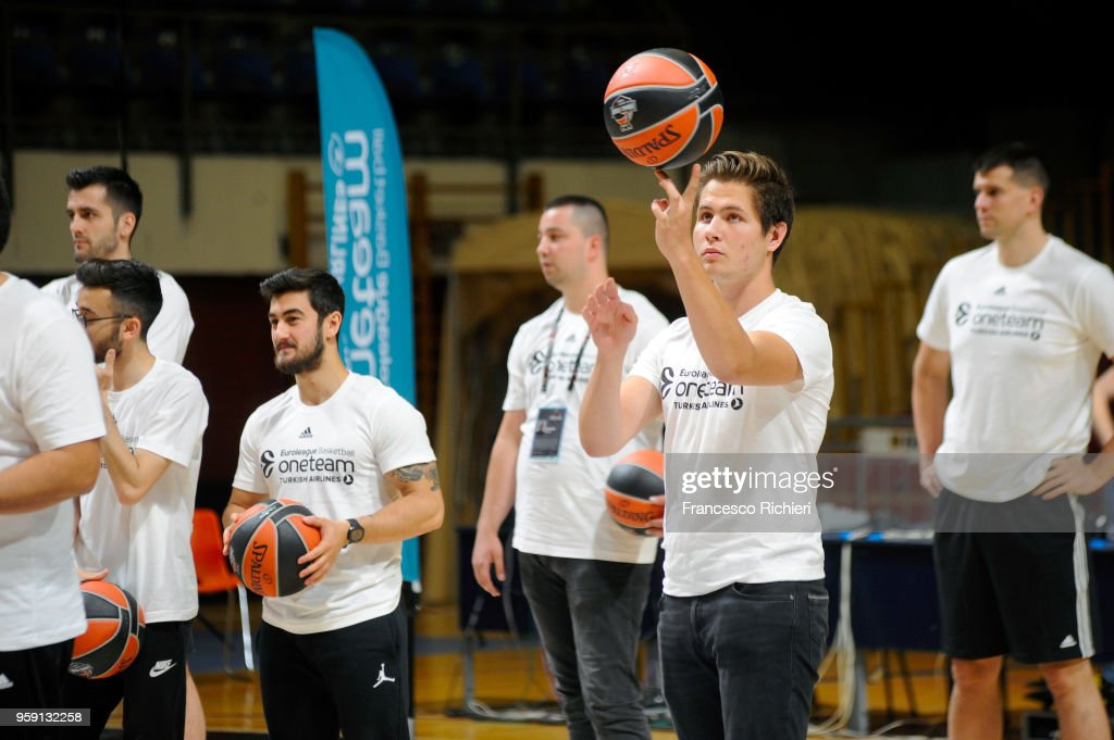 One Team people during the 2018 Turkish Airlines EuroLeague F4 One Team Welcome Session for Volunteers at Aleksandar Nikolic Hall on May 16, 2018 in Belgrade, Serbia.