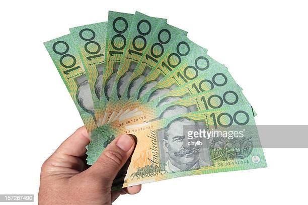 one thousand AUD with clipping path