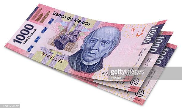 One Thousand Mexican Pesos Banknotes