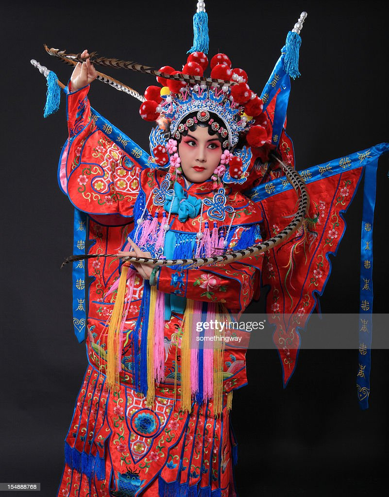 one traditional chinese opera actor : Stock Photo
