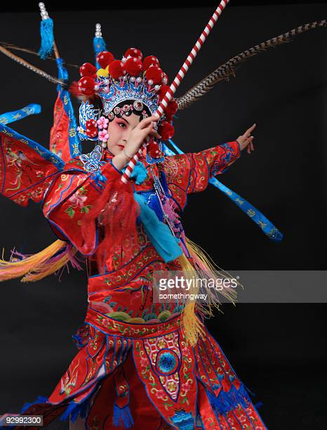 one traditional chinese opera actor - opera stage stock pictures, royalty-free photos & images