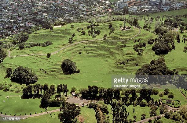 One Tree Hill an extinct volcano Scoria cones Small summit crater and two large breached craters about 10000 years old Carved terraces extensive...