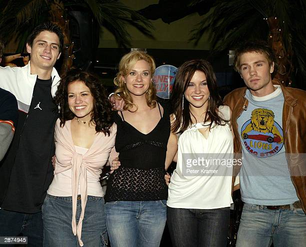 'One Tree Hill' cast James Lafferty Bethany Joy Lenz Hilarie Burton Sophia Bush and Chad Michael Murray at Planet Hollywood to promote their new show...