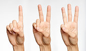 One, Two, Three - Counting with Fingers (XXXL)