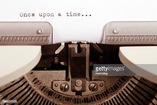One upon a time typed on a vintage typewriter