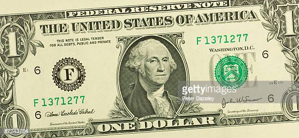 one us dollar bill. - american one dollar bill stock pictures, royalty-free photos & images