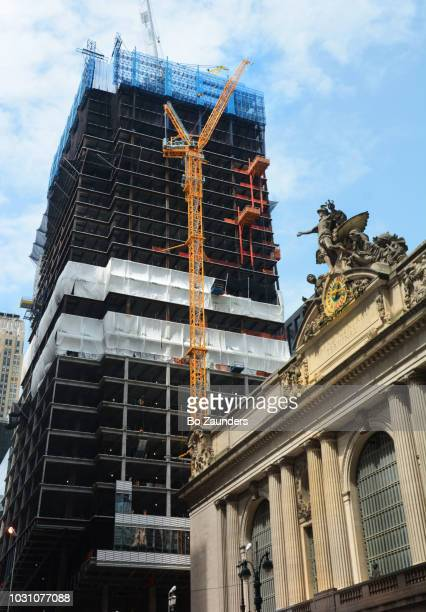 One Vanderbilt under construction, with Grand Central Station in the foreground, in NYC.