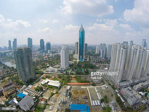 One view of Jakarta's business district with BNI Tower looming.