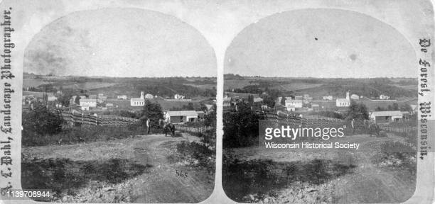 One view of the village of Mount Vernon Wis Mount Vernon Wisconsin 1876 a stereograph listed in Dahl's 1877 'Catalogue of Stereoscopic Views'