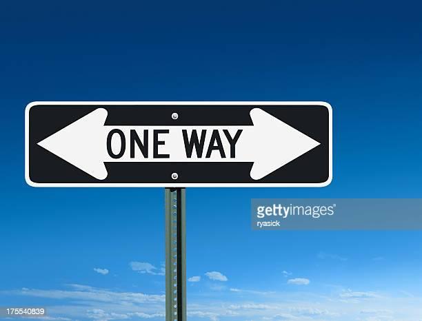 Einfache Fahrt Verwirrung Schild mit dem linken Pfeil nach rechts &