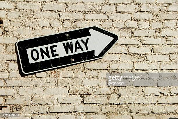 One way on wall