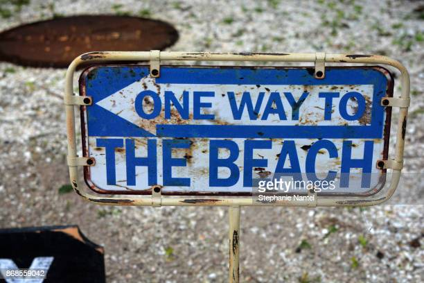 One way to the beach