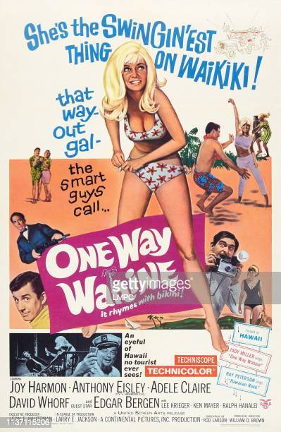One Way Wahine poster US poster art center Joy Harmon 1965