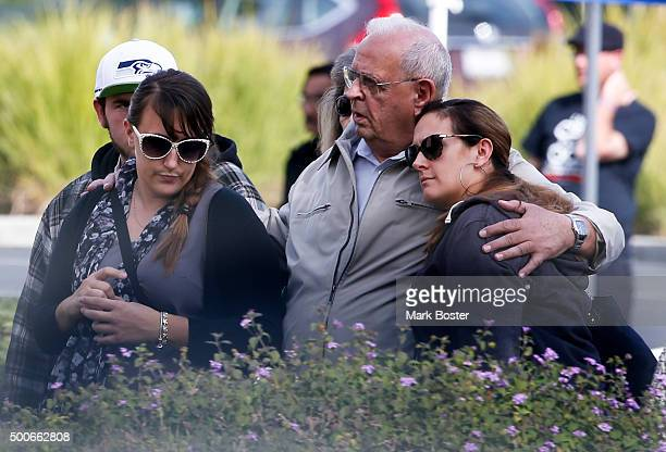 One week after the mass shooting at the Inland Regional Center in San Bernardino the families and loved ones of the victims were allowed to stand...