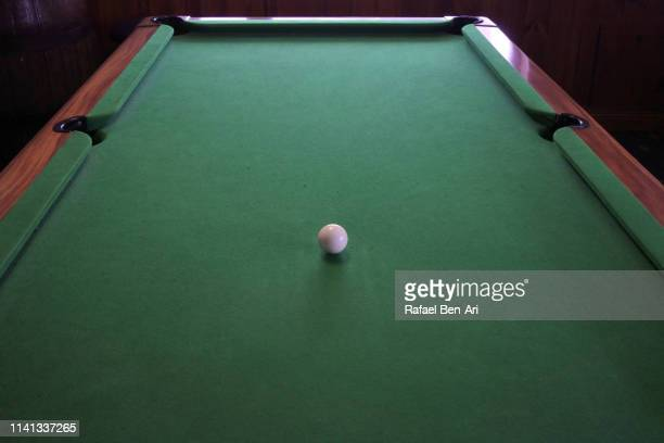 one white billiard ball - rafael ben ari stockfoto's en -beelden