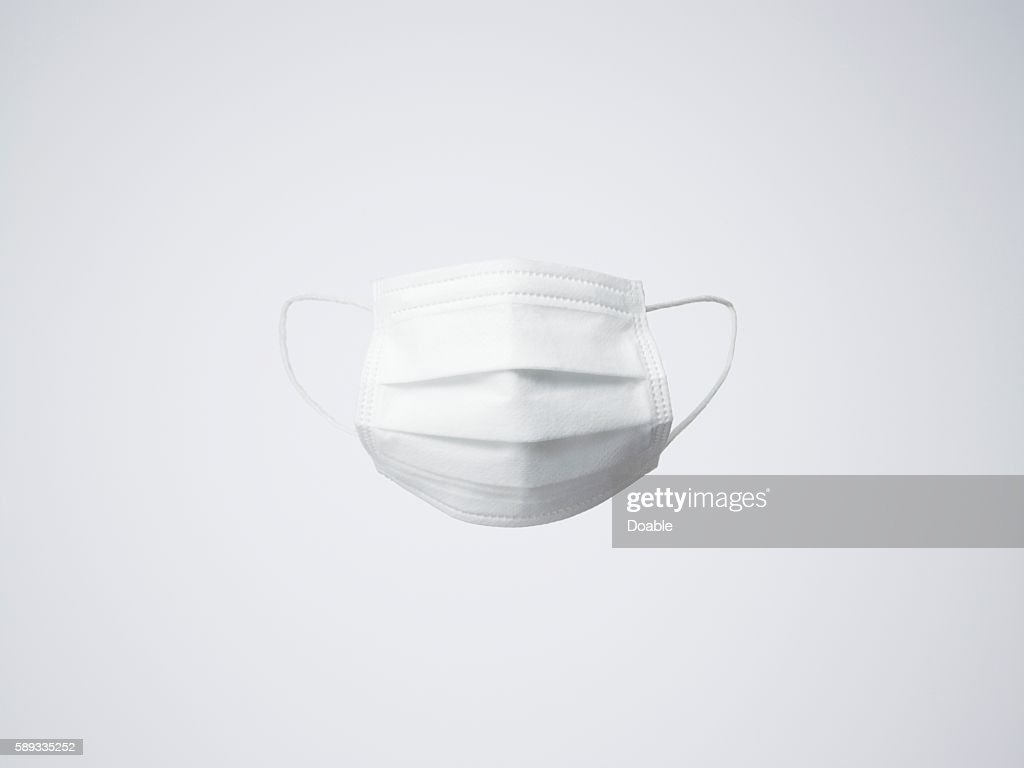 One white surgical mask : Stock Photo