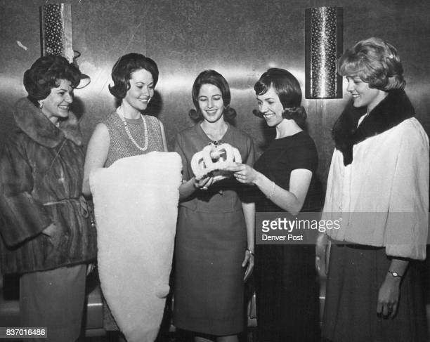 One Will be Named Miss Wool of Colorado One of these young ladies will be crowned Miss Wool of Colorado 1964 at the Stockmen's Ball Thursday night...