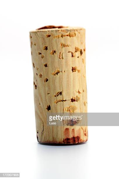 one wine cork (serie of images) - wine cork stock photos and pictures