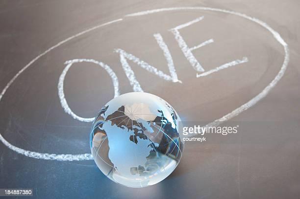 Eine Welt-Konzept mit Globus
