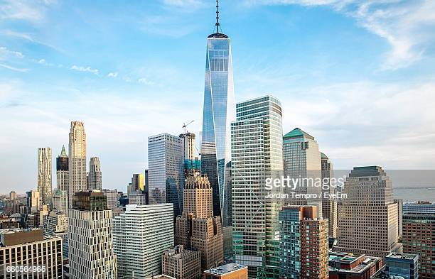 One World Trade Center And Buildings At City Against Sky