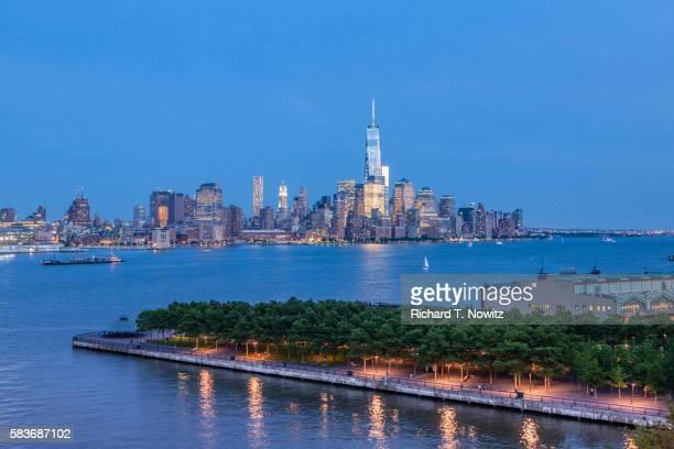 One World Trade Center and Lower Manhattan Skyline