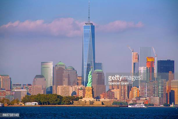 One World Trade Center and Statue of Liberty