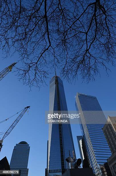 One World Trade Center informally called 'Freedom Tower' still under construction January 29 2014 in New York next to Seven World Trade Center AFP...