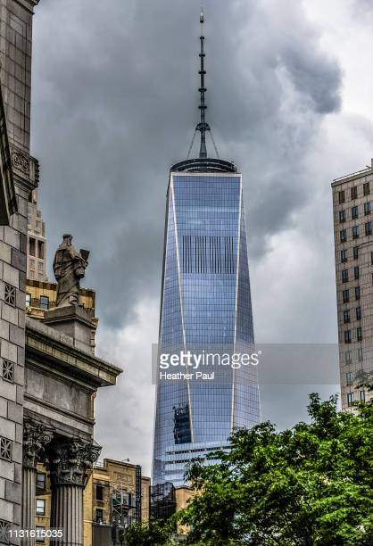 one world trade center or freedom tower in new york city - {{asset.href}} stock pictures, royalty-free photos & images