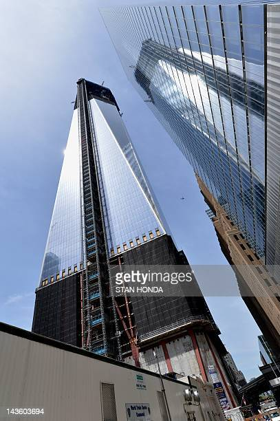 One World Trade Center stands in New York City April 30 2012 New York's skyline got a new king after the still unfinished World Trade Center tower...