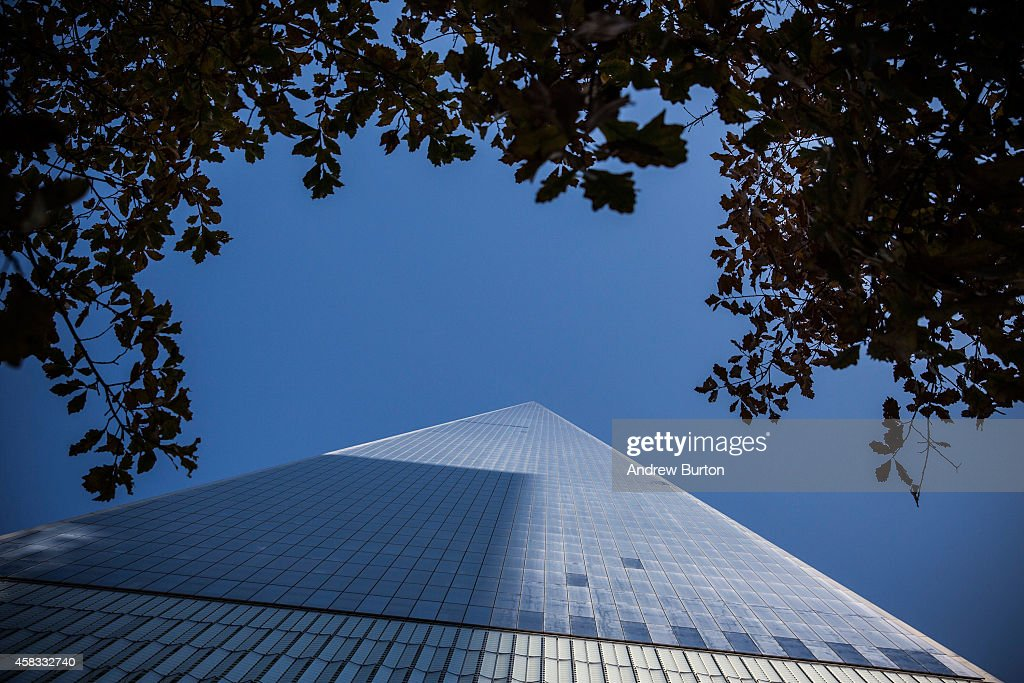 One World Trade Center, which opens today, is seen on November 3, 2014 in New York City. The skyscraper is 104 stories tall and cost $3.9 billion; it opens more than 13 years after the terrorist attacks of September 11, 2001, destroyed the original World Trade Center buildings. Officials say the building is currently at 60% occupancy, with Conde Nast as one of the first major tenants to move in.