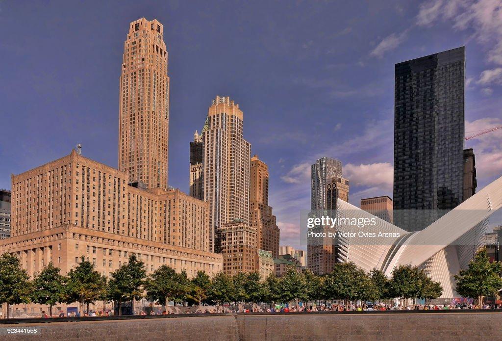 One World Trade Centre Transportation Hub by Santiago Calatrava in Manhattan, New York, USA : Foto de stock