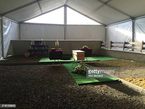 VERNET ALPES FRANCE MARCH 20 one year after the crash of the airbus of the Germanwings by Andreas Lubitz a chapel of rest with the rests of the...
