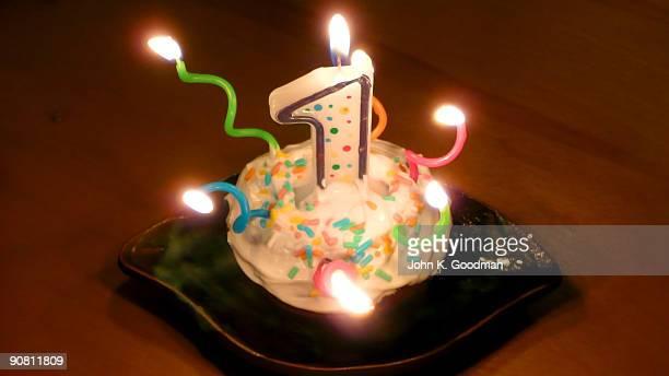one year birthday - first birthday imagens e fotografias de stock