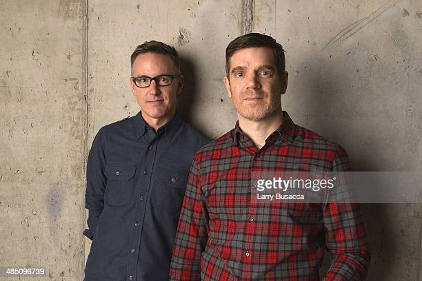 One Year Lease Executive Producer Thomas Harrington and Director Brian Bolster pose at the 2014 Tribeca Film Festival Getty Images Studio on April 16...