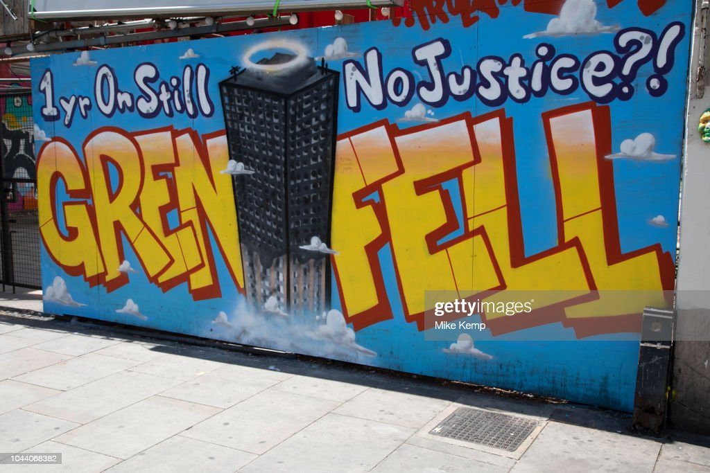 Grenfell Graffiti In London : News Photo