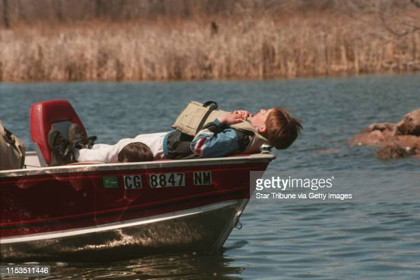 One young angler stole some shuteye during the crappie contest