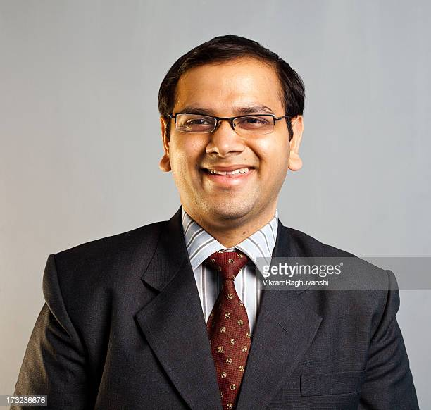 One Young Confident Indian Corporate Businessman Passport Sized Photograph