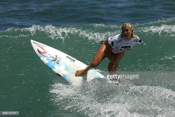 Onearmed surfer Bethany Hamilton from the US during her first heat at Flynns Beach Phillip Island on 22nd January 2007 THE AGE NEWS Picture by ANDREW...