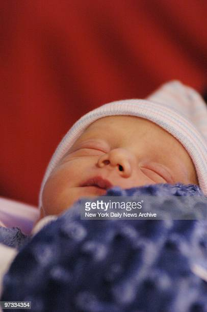 Onedayold Gian St James sleeps through his first news conference at Mount Sinai Hospital Gian and his sister Francesca were born yesterday to Aleta...