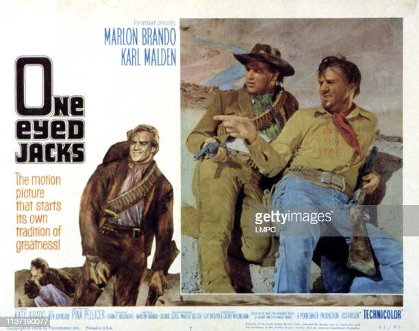 Oneeyed Jacks lobbycard Marlon Brando Karl Malden 1961