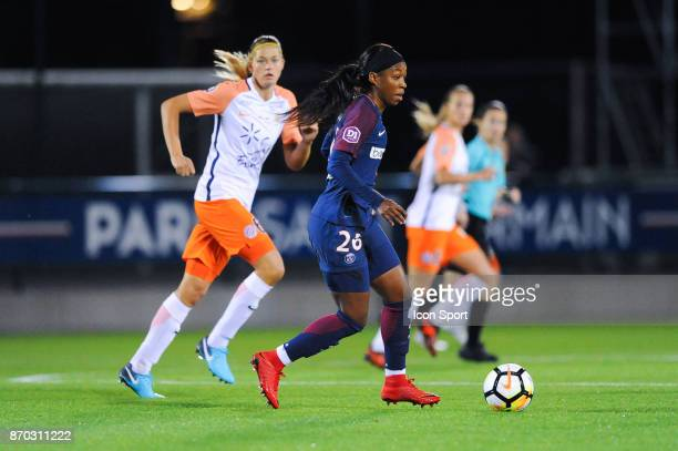 Onema Grace Geyoro of PSG during the French Women's Division 1 match between Paris Saint Germain and Montpellier on November 4 2017 in Paris France