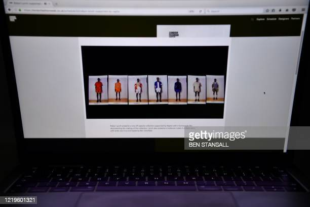 A oneoff capsule collection of Dublinborn fashion designer Robyn Lynch and supported by Rapha is displayed on the London Fashion Week website in...