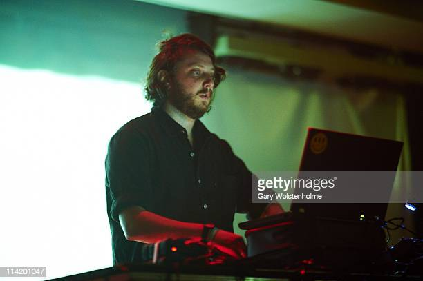 Oneohtrix of Oneohtrix Point Never performs on stage during the final day of ATP Festival curated by Animal Collective at Butlins Holiday Centre on...