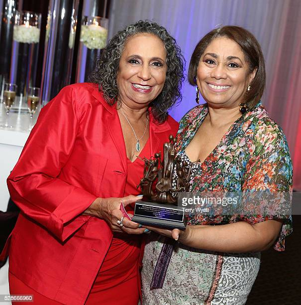 One/Radio One Chairman Cathy Hughes and Dyana Williams pose during NMAAM's Celebration Of Legends Red Carpet And Luncheon on May 6 2016 in Nashville...