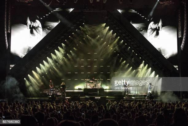OneRepublic perform live on stage at White River Amphitheatre on August 22 2017 in Auburn Washington