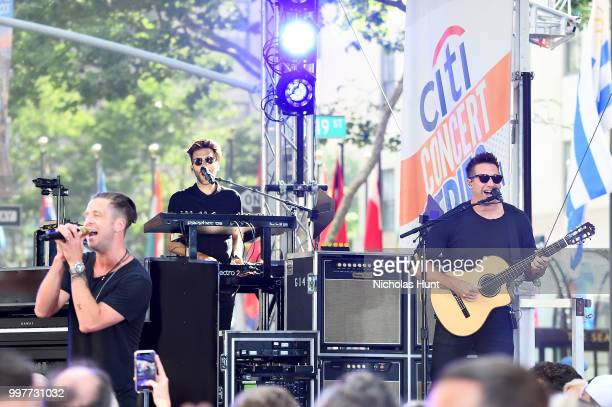 OneRepublic performs on stage at Citi Concert Series on TODAY at Rockefeller Plaza on July 13 2018 in New York City