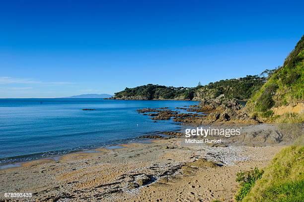 Oneroa beach, Waiheke Island, Hauraki Gulf, North Island, New Zealand, Pacific