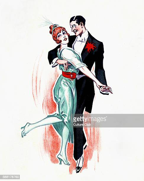 One-step - couple dancing. Ballroom dance popular in social dancing in early 20th century. Amikayo.